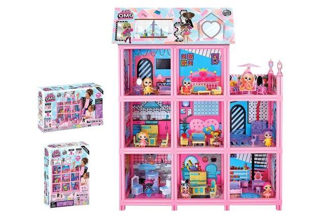 Будиночок для ляльок дом для кукол 8373 L.O.L Surprise з ляльками лол