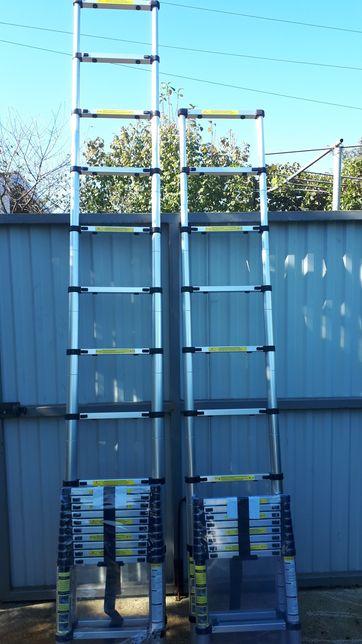 Телескопическая алюминевая лестница