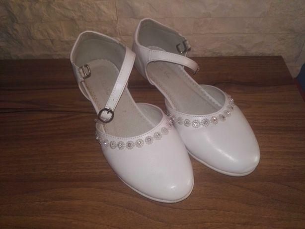 Buty komunijne 35 buty do Komunii z kryształkami białe balerinki CCC