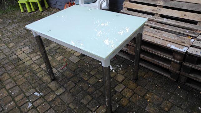 Sprzedam stół rozkładany ,szklany, biały połysk