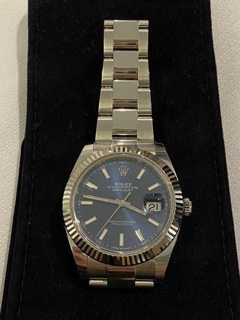 Часы Rolex Datejust 41 mm сталь , безель из белого золота