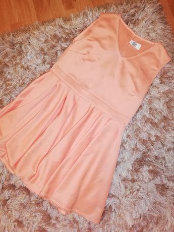 Sukienka morelowa rozkloszowana mini PAKUTEN 40 L