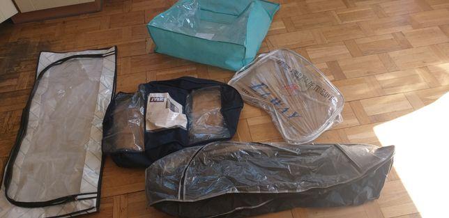 Zapinane pojemniki do przechowywania rzeczy - cena za całość 40 zł