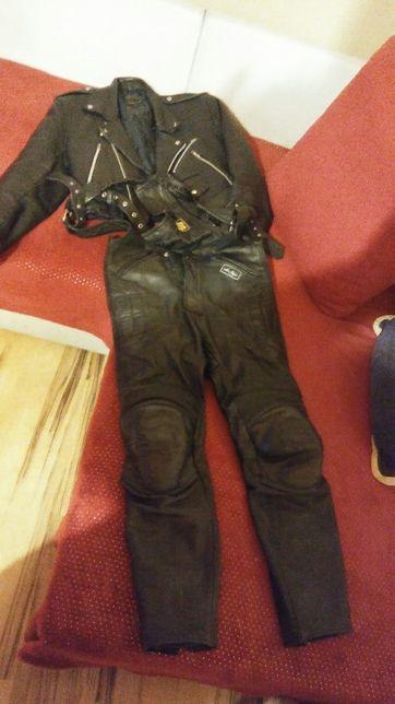 Komplet skórzany damski Echtes Leder na motocykl