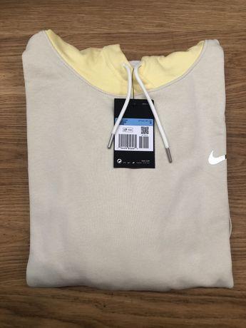Żółta bluza z kapturem nike