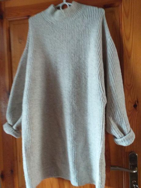 Zara mega duży sweter oversize szeroki rękaw