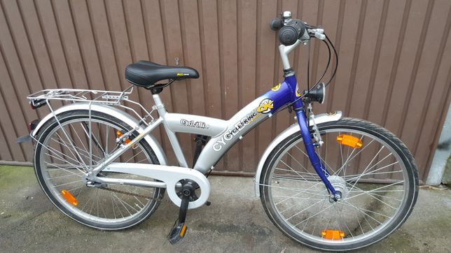 """Rower dziecięcy,aluminiowy  24"""" - niemiecki Cyclesking"""