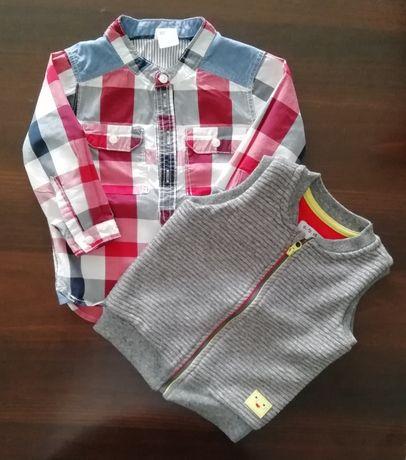 Koszula H&M, kamizelka 5*10*15 r. 74
