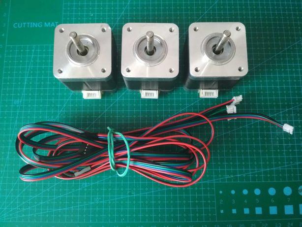 Silniki krokowe NEMA17  1.5A 0.45Nm  + przewody