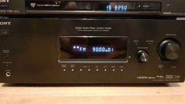 Amplituner Sony + Odtwarzacz DVD