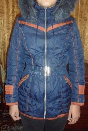 детское зимнее пальто 42 р-р ( 152-156 )