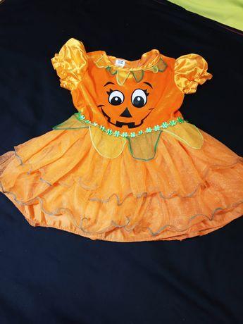 Платье Хеллоуин костюм тыквы девочке 3-4 г. пышная юбка фатин