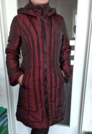 Женское дутое пальто демисезонное
