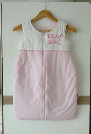 Śpiworek niemowlęcy różowo biały Stan idealny princess