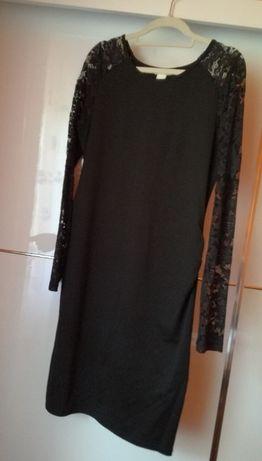 H&M Sukienka z koronkowymi rękawami ciążowa i nie tylko