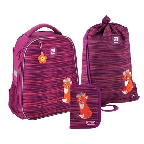 Набор рюкзак + пенал + сумка для обуви Kite 531 Fox K20-531M-3