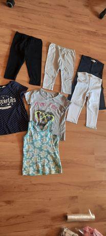 Super zestaw, getry 3/4 -nowe h&m,r.110, koszulki,  bluzki coolclub