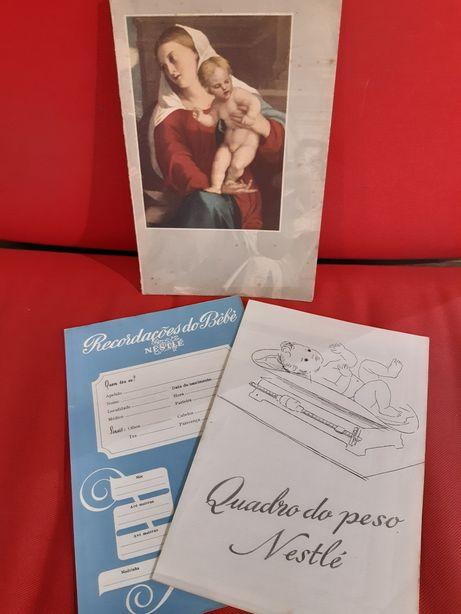 """Antigo livro década de 60 """"Às Jovens Mães"""" editado pela Nestlé"""