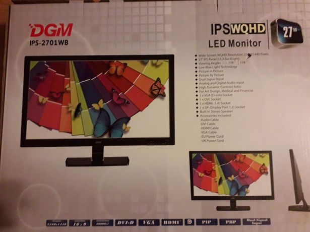 Monitor Gamingowy 27'' DGM IPS-2701WB