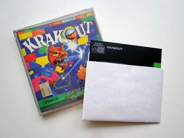 """Krakout - gra dla Commodore C64/C128 na dyskietce 5,25"""""""