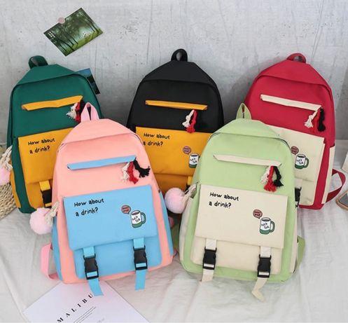 Рюкзак школьный 4 в 1 рюкзак сумка клатч пенал