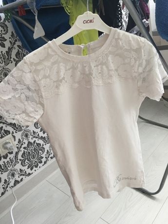 Блузка с коротким рукавом для школы