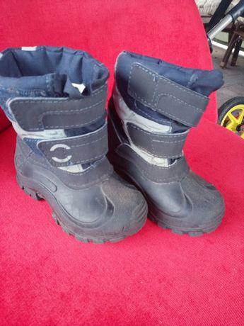 Buty zimowe, śniegowce roz 22