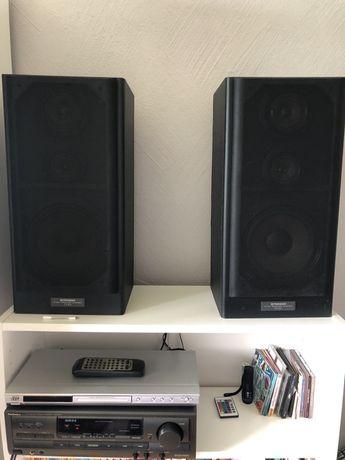 Kolumny Pioneer CS-301 + amplituner Technics SA-EX310 i CD DVD JVC
