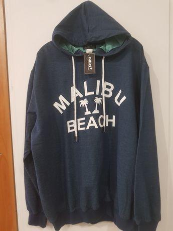Nowa duża bluza  ciemny morski 60/62  xxxl