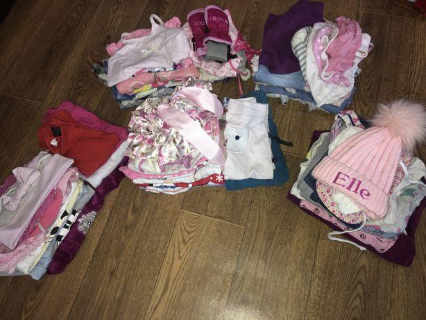 Пакет вещей одяжда доя новорождених сет комплект 74 80
