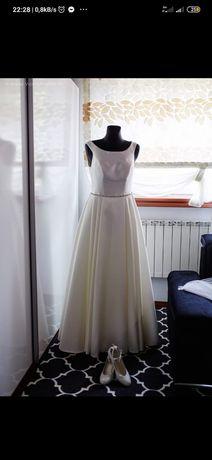 Suknia ślubna mikado ecru