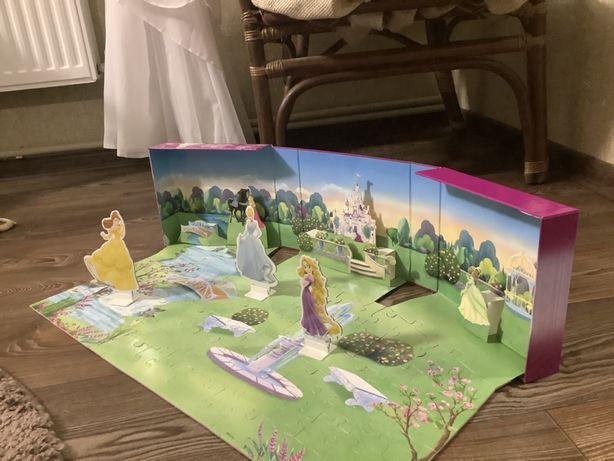 Продам большой пазл 3D pop up принцессы Disney