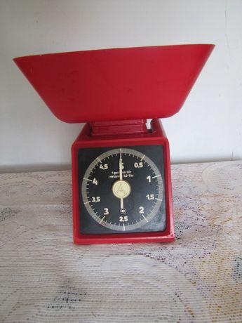 весы кухонние ретро винтаж, красные