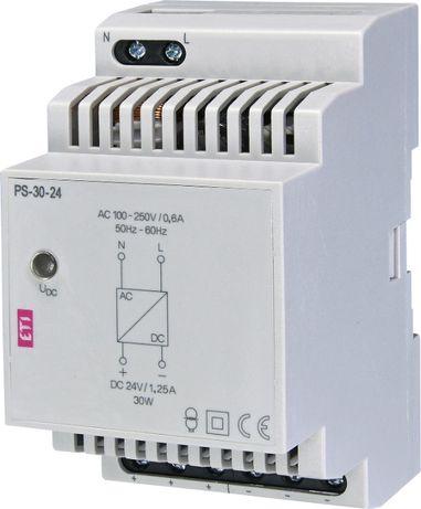 Блок питания ETI PS-30-24 (Вход: 100-250VВыход: 24V DC/30W/1,25A)