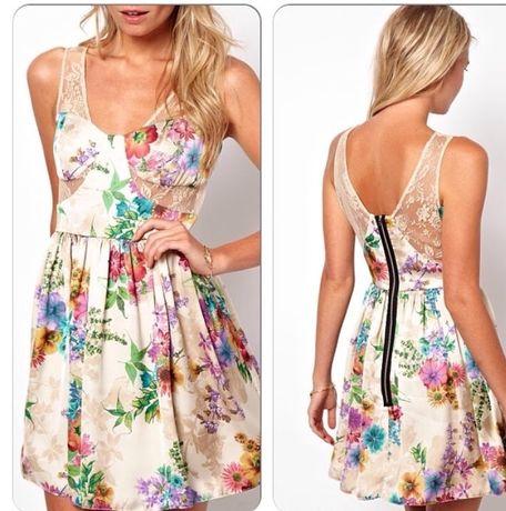 Нежное легкое цветочное платье