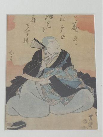 Drzeworyt japoński Utagawa Toyokuni II (Japonia) (2 szt.)