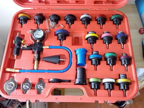 Teste pressão radiador e mudança por vácuo circuito anti-congelante