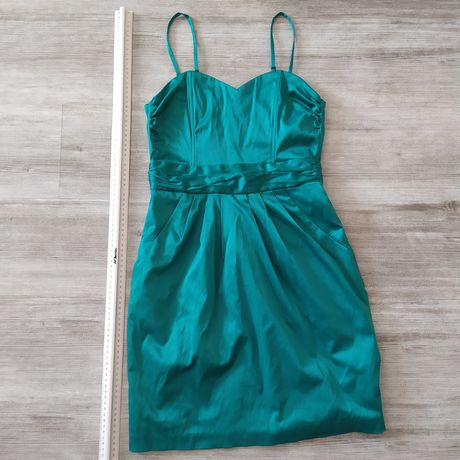 Elegancka sukienka H&M 38 zielona