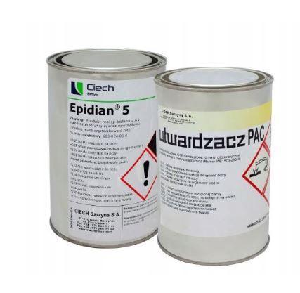 SUPER mocny KLEJ dwuskładnikowy epoksydowy EPIDIAN 5 PAC