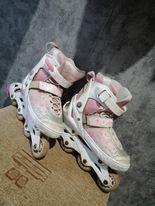 Różowo białe rolki