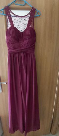 Sukienka długa  balowa bordo bordowa S M L