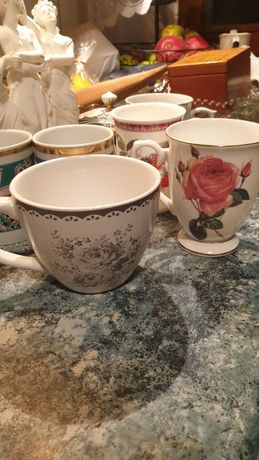 Kubek, affek, design, porcelain, róża