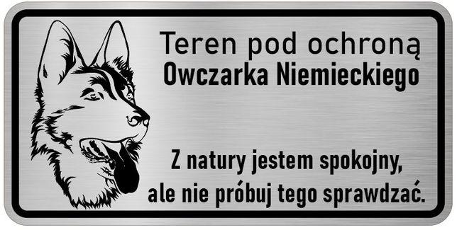 Uwaga Pies Tabliczka nierdzewna Owczarek Niemiecki