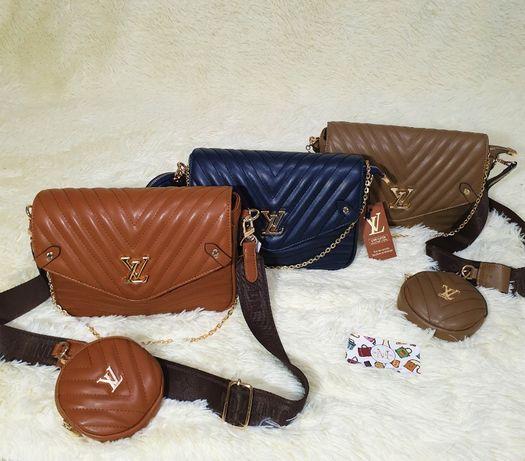 Женская сумка Louis Vuitton 2 в 1 луи витон , клатч , через плечо