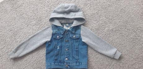 Katana kurtka jeans 92/98 kaptur dres