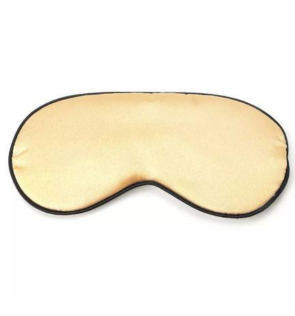 Удобная мягкая маска для сна—повязка на глаза стильная классика золото