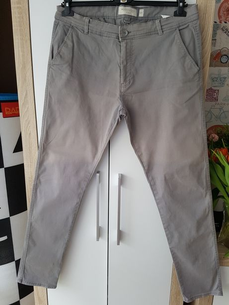 Szare spodnie Reserved slim fit W36