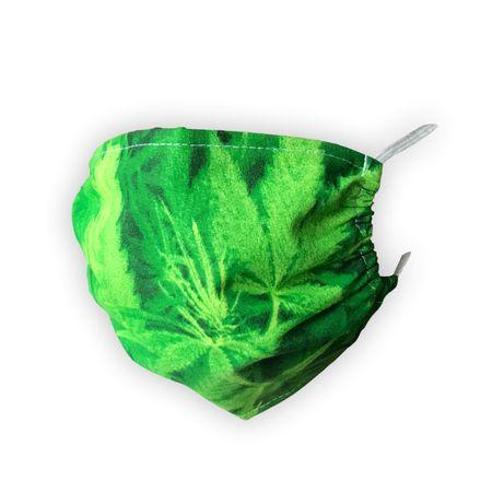 Maska ochronna na twarz, 2 warstwowa, bawełniana - zielona