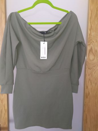Sukienka khaki Boohoo 40/42 Nowa