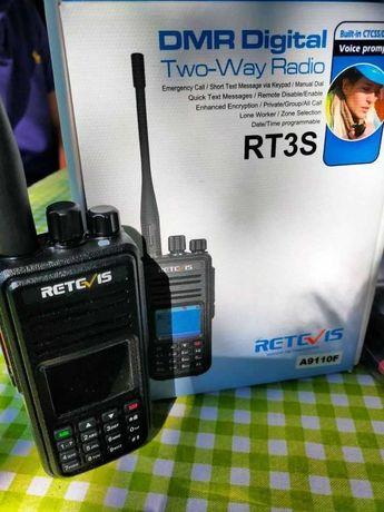 Rádio RT3S - DMR - com GPS, digital/analógico -
